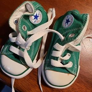 Baby Hightop Converse Size 3 Kelly Green